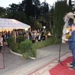Allocution de Philippe-Edern Klein, Président de la CFCIM lors du cocktail à l'Institut français de Meknès. L'événement a été sponsorisé par Food & Goods et la marque Volubilia